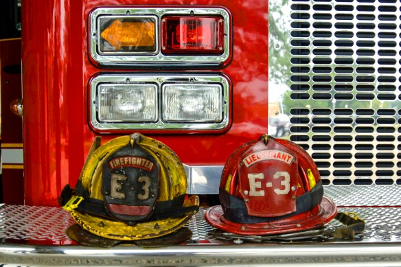 Firefighter and Lieutenant helmets